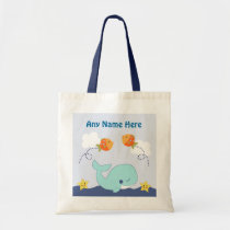 Personalized Blue Lagoon/Whale/Fish True Tote Bag