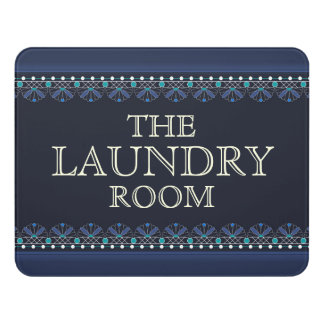 Personalized Blue Laundry Room Sign