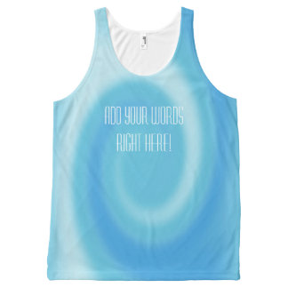 Personalized Blue Ombre Swirl Unisex Tank All-Over Print Tank Top