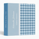 Personalized:  Blue Plaid Binder