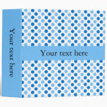 Personalized Blue Polka Dots Binder