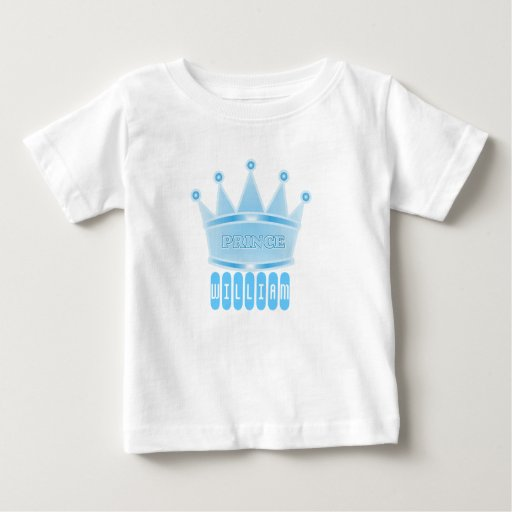 Personalized Blue Prince Crown Baby Boy Gift Shirt