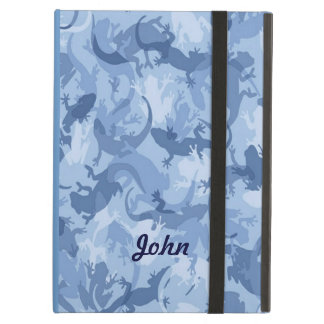 Personalized Blue Reptile Camouflage iPad Case