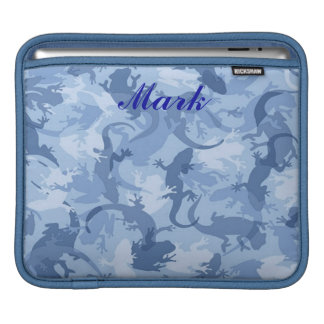 Personalized Blue Reptile Camouflage iPad Sleeve