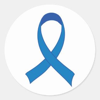 Personalized Blue Ribbon Awareness Sticker