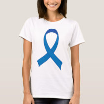 Personalized Blue Ribbon Awareness T-Shirt