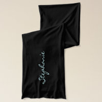 Personalized Blue Scattered Hearts Scarf