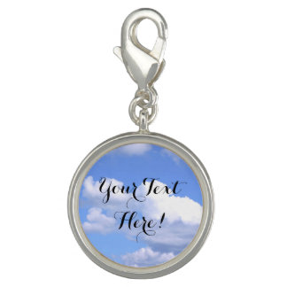 Personalized Blue Sky Clouds Inspirational Nature Charm