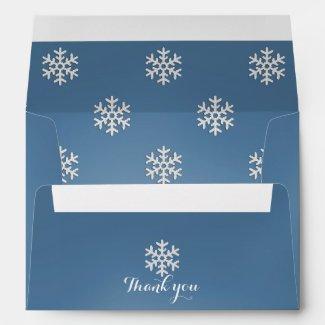 Personalized Blue Snowflakes Envelope