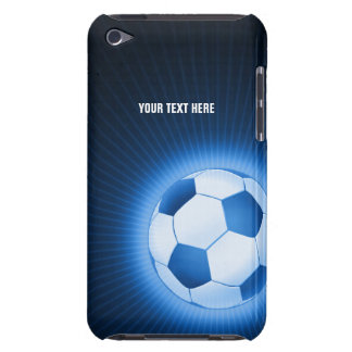 Personalized Blue Soccer Ball (Football) Barely There iPod Case