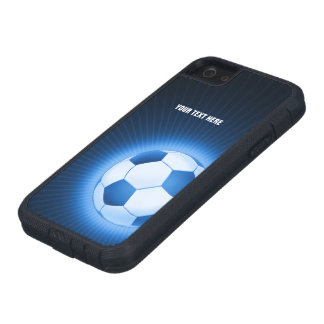 Personalized Blue Soccer iPhone SE/5/5s Case