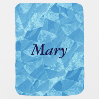 Personalized Blue Stain Glass Baby Blanket
