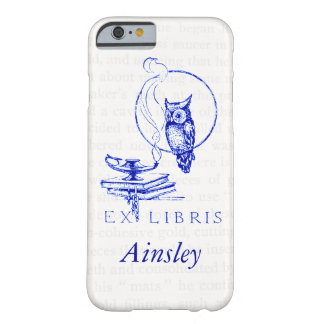 Personalized Blue Vintage Owl Collage Barely There iPhone 6 Case