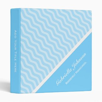 Personalized: Blue Waves Avery Binder