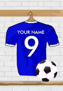 Personalized Blue White Football Soccer Jersey Cover For The iPad Mini 72bb55435