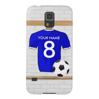 Personalized Blue White Football Soccer Jersey Galaxy S5 Case