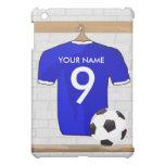 Personalized Blue White Football Soccer Jersey iPad Mini Case