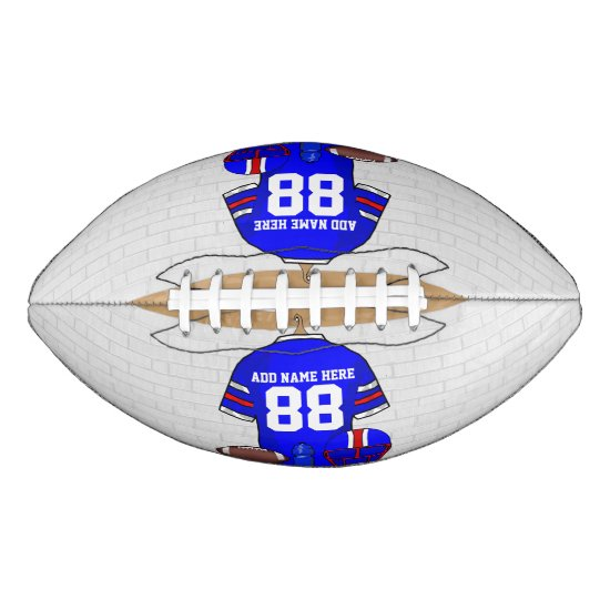 Personalized Blue White Red Football