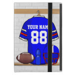 Personalized Blue White Red Football Jersey iPad Mini Case