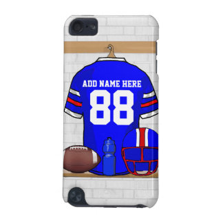 Personalized Blue White Red Football Jersey iPod Touch (5th Generation) Case