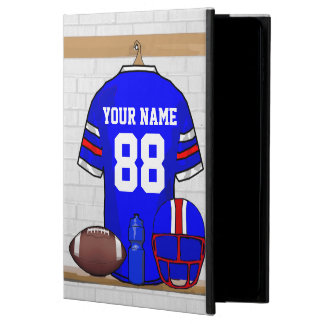 Personalized Blue White Red Football Jersey Powis iPad Air 2 Case