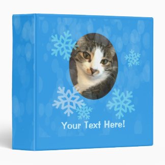 Personalized Blue Winter Snowflakes Binder