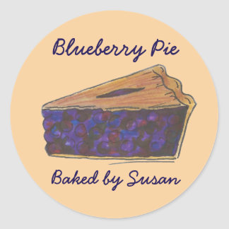 Personalized Blueberry Pie Slice Baked By Stickers