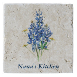 Personalized Bluebonnet Trivet