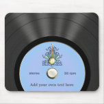 Personalized Bluegrass Vinyl Record Mouse Pads