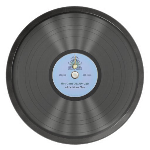 Personalized Bluegrass Vinyl Record Party Plate