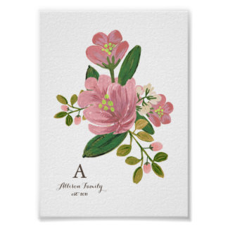 Personalized | Blush Bouquet Art Print 5x7