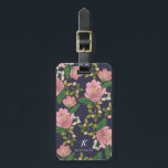 "Personalized   Blush Bouquet Bag Tag<br><div class=""desc"">Hand painted pink floral design by Shelby Allison.</div>"