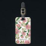 "Personalized | Blush Bouquet Bag Tag<br><div class=""desc"">Hand painted pink floral design by Shelby Allison.</div>"