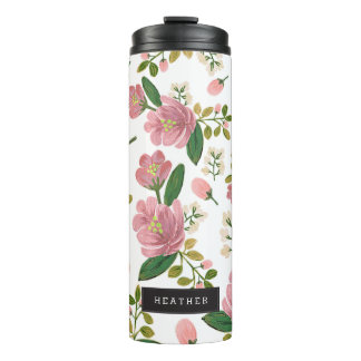 Personalized | Blush Bouquet Thermal Tumbler
