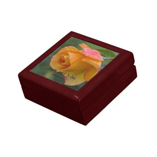 Personalized Blushing Rose Wedding Gift Box