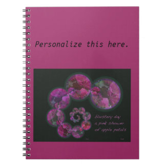 Personalized Blustery Day Spring Haiga Poem Spiral Note Book