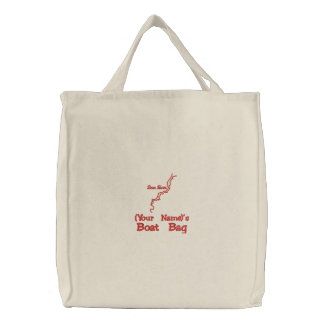 Personalized Boat Bag Red Bear River logo