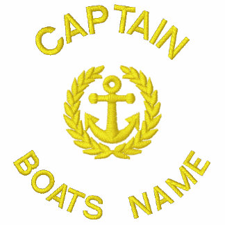 Personalized boat captain monogram and anchor polos