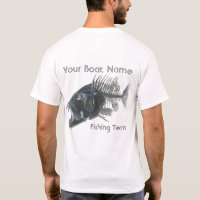 Personalized Boat Name Snapper Fishbones T-Shirt