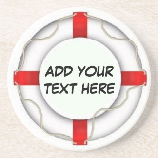 Personalized Boating Life Preserver Drink Coasters