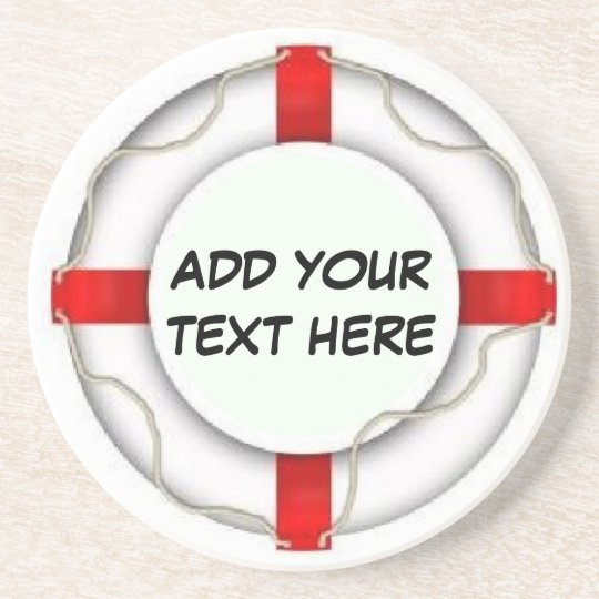 Personalized Boating Life Preserver Drink Coaster
