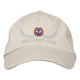 Personalized boats name sailing captains embroidered baseball caps