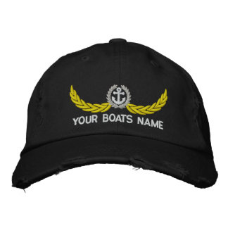 Personalized boats name sailing captains embroidered baseball cap