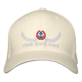 Personalized boats name sailing captains embroidered hats