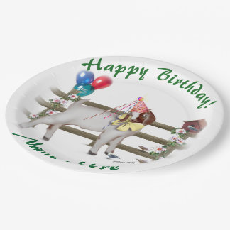Personalized Boer Goat Birthday Party Plates