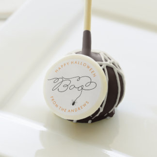 Personalized Boo Spider Halloween Treat Cake Pop