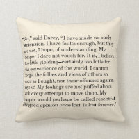 Personalized Book Quote Text Excerpt Throw Pillow