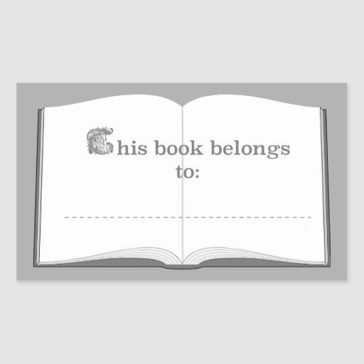 Personalized Book Stickers (This Book Belongs To)