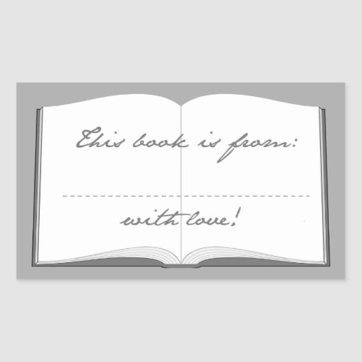 Personalized Book Stickers (This Book Is From)