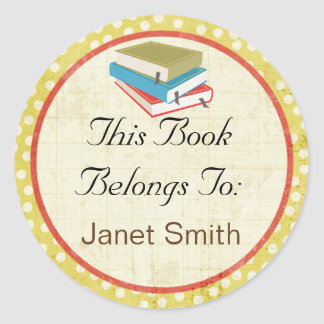 Personalized bookplate stickers